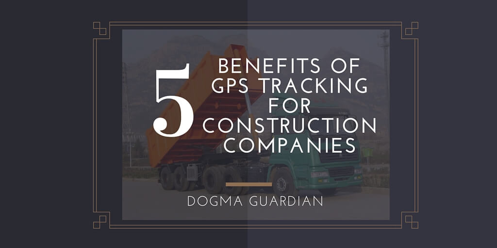 GPS tracking device for construction companies